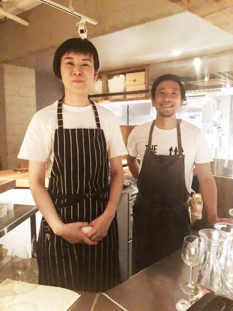 左:神作知子さん 右:オーナーシェフ 菊池隆樹さん